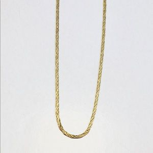 14K solid gold braided necklace